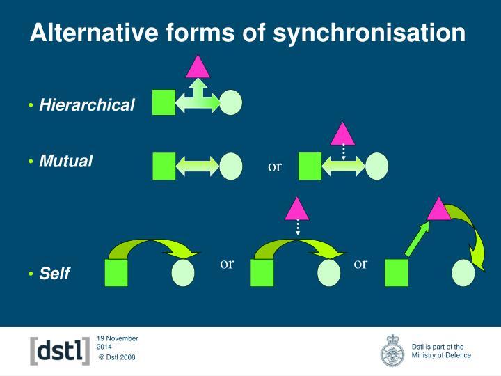 Alternative forms of synchronisation