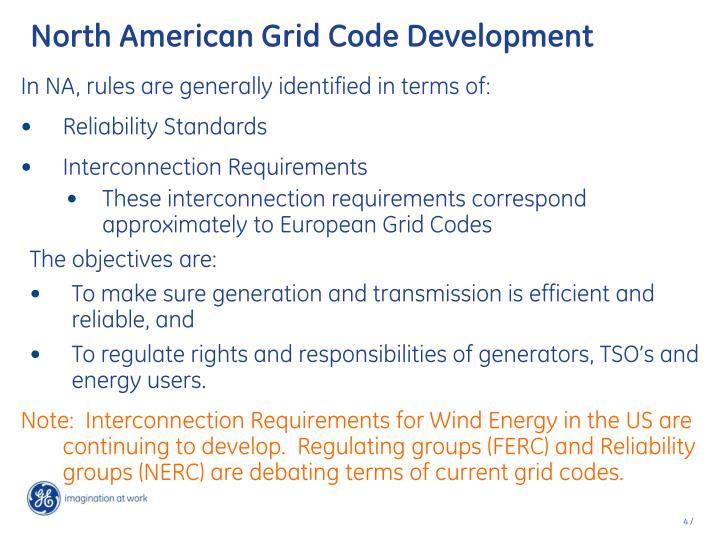 North American Grid Code Development