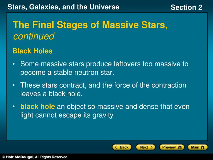 The Final Stages of Massive Stars,