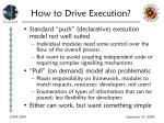 how to drive execution