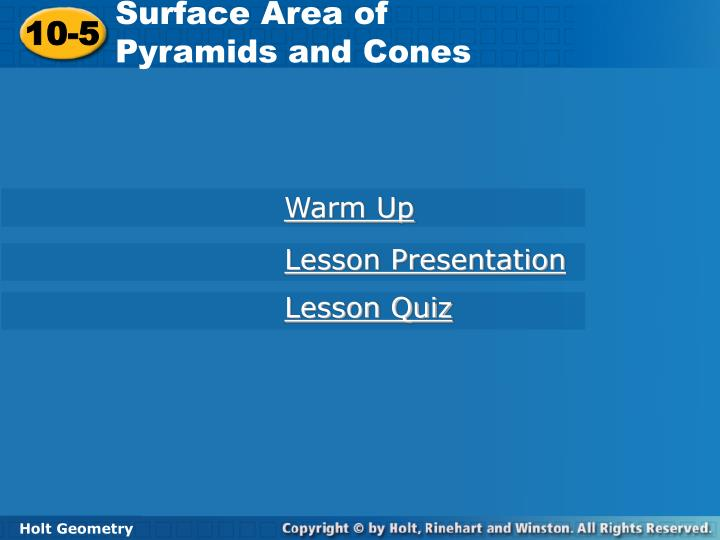 Surface Area of