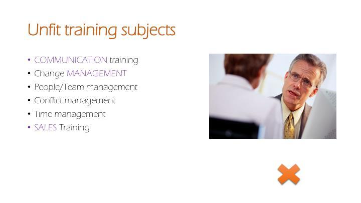 Unfit training subjects