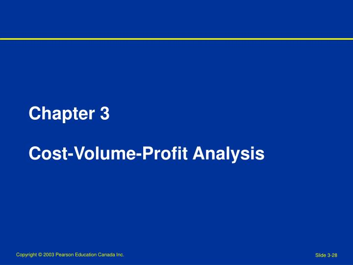 chapter 3 cost volume profit analysis n.