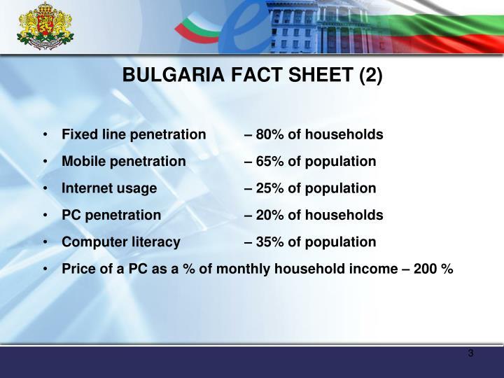Bulgaria fact sheet 2