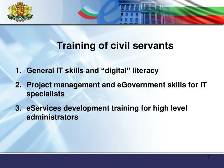 Training of civil servants