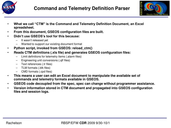 Command and Telemetry Definition Parser