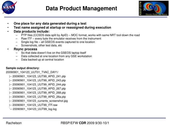Data Product Management