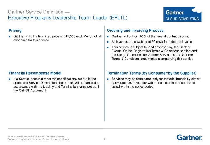 Ppt Gartner G Cloud Service Definition Powerpoint Presentation