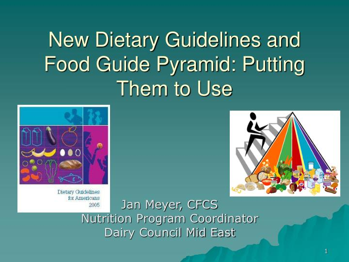 new dietary guidelines and food guide pyramid putting them to use n.