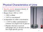physical characteristics of urine2