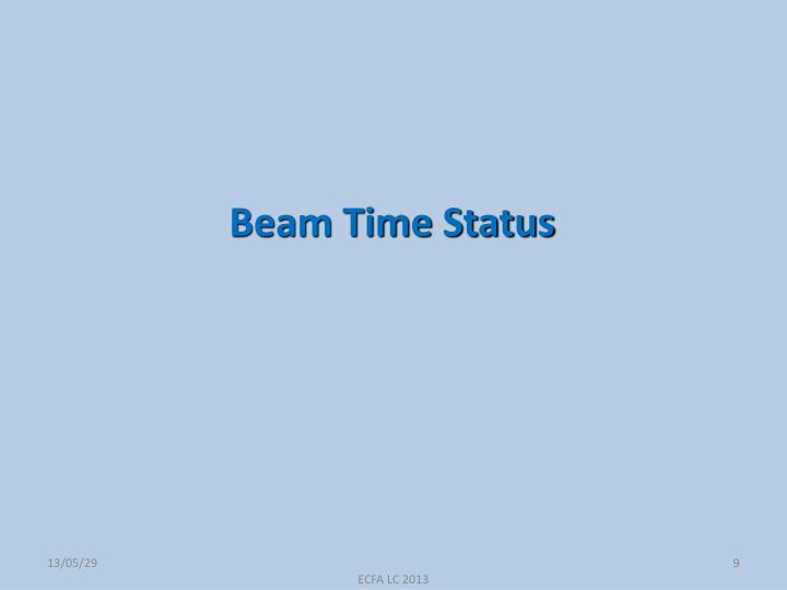 Beam Time Status