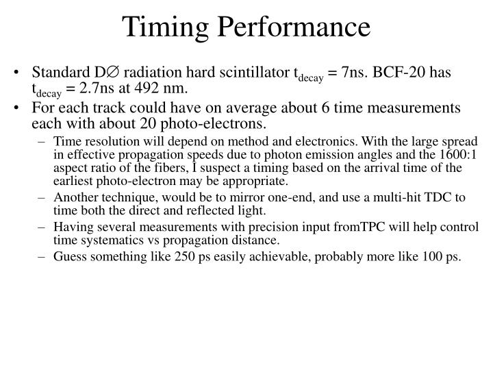 Timing Performance