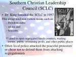 southern christian leadership council sclc