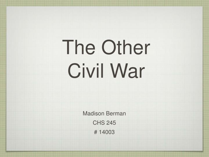 the other civil war n.