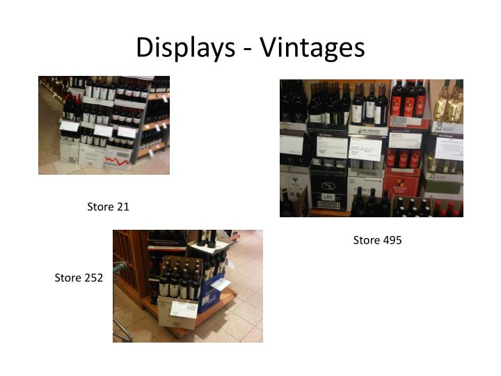 Displays - Vintages