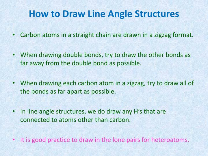 How to Draw Line Angle Structures