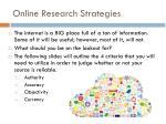 online research strategies