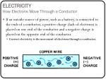 electricity how electrons move through a conductor