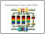 fixed resistor color code chart