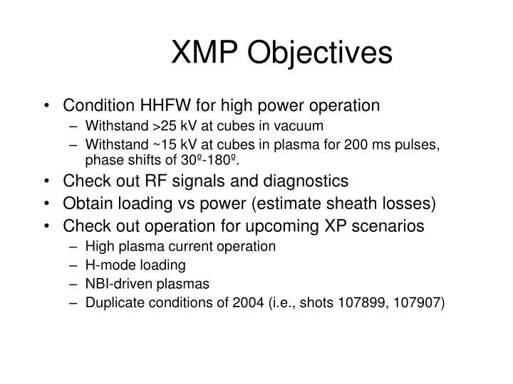 Xmp objectives