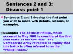 sentences 2 and 3 discuss point 1