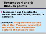 sentences 4 and 5 discuss point 2