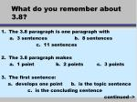 what do you remember about 3 8