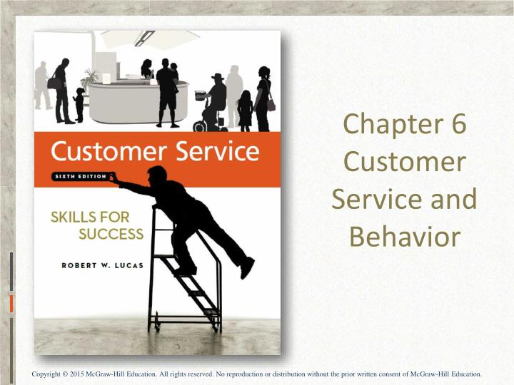 chapter 6 customer service and behavior n.