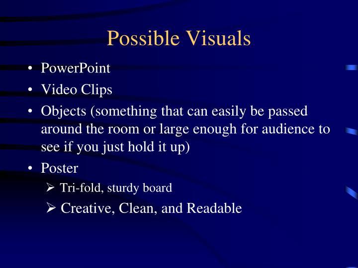 Possible visuals