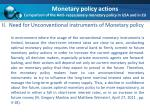 monetary policy actions comparison of the anti recessionary monetary policy in usa and in eu1