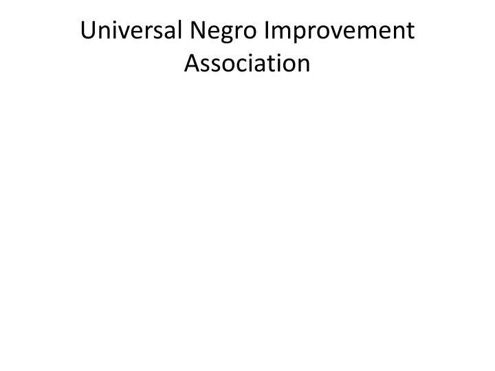 Universal Negro Improvement Association