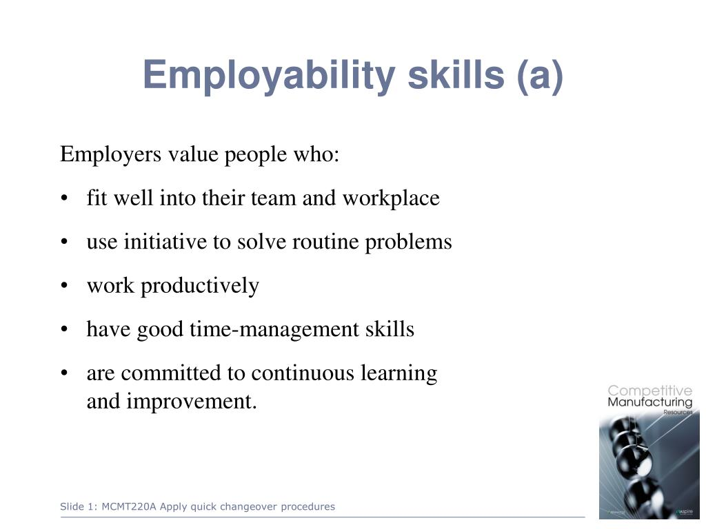 skills which employers value