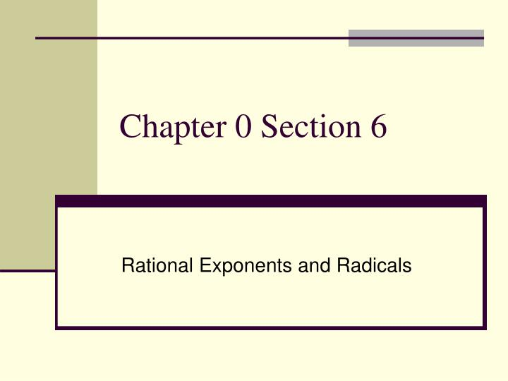 chapter 0 section 6 n.