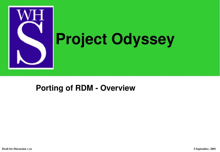 porting of rdm overview