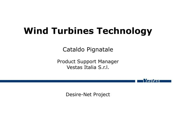 wind turbines technology n.