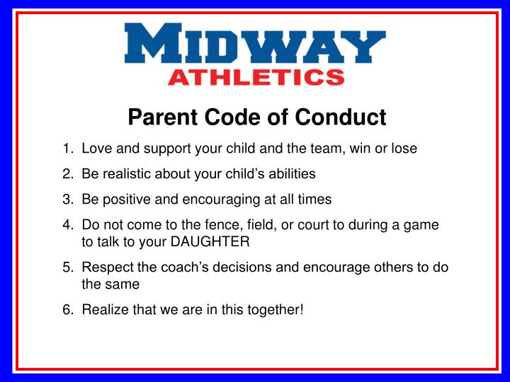 Parent Code of Conduct