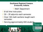 southwest regional campus evansville indiana