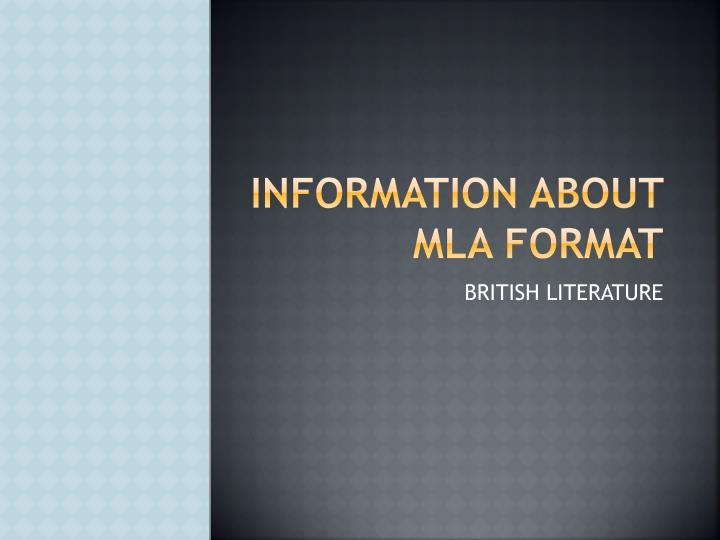 information about mla Mla citations, sometimes called parenthetical citations or in-text citations the purpose of mla citation is to document where you found your information and give credit to the authors for using their works.