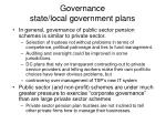 governance state local government plans