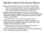 mid 80s federal civil service reform