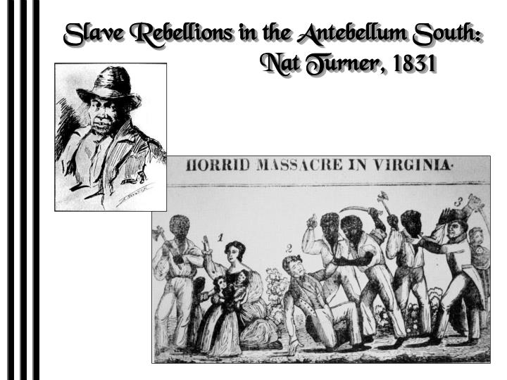 Slave Rebellions in the Antebellum South:
