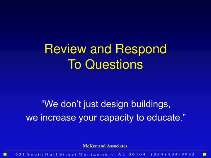 Review and Respond