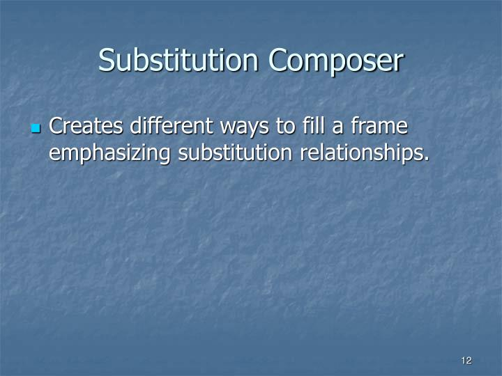 Substitution Composer