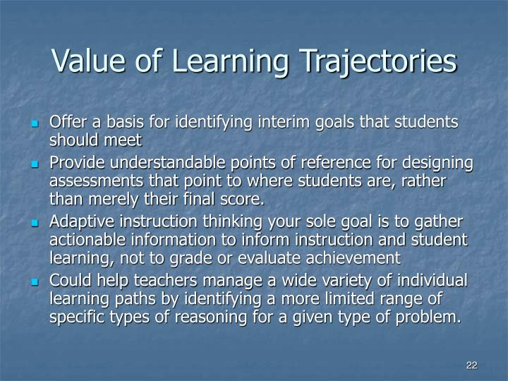 Value of Learning Trajectories