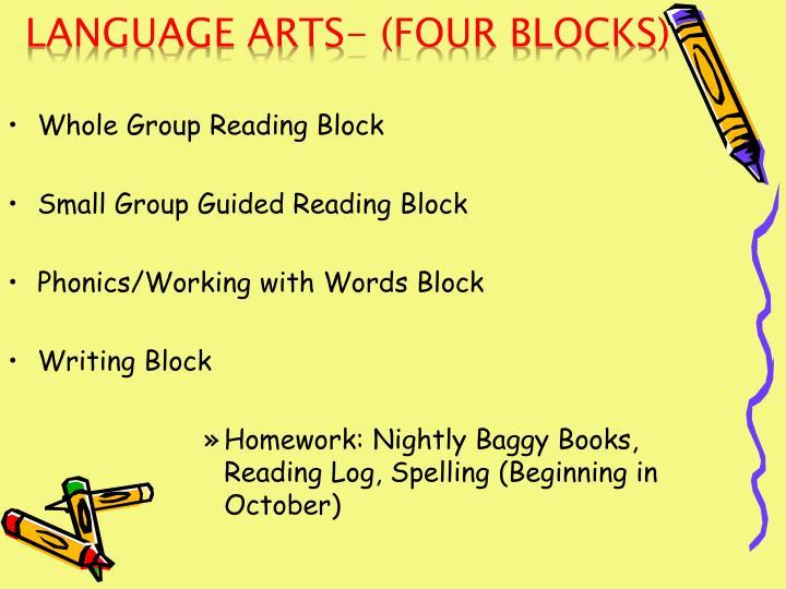 Language Arts- (Four Blocks)
