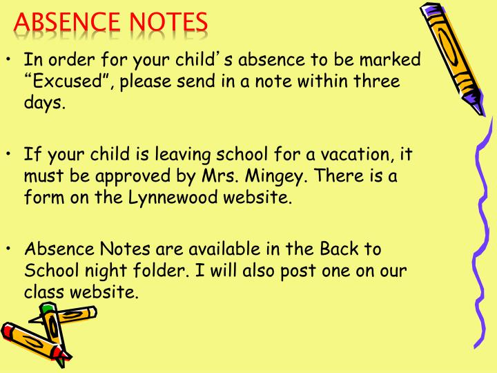Absence Notes