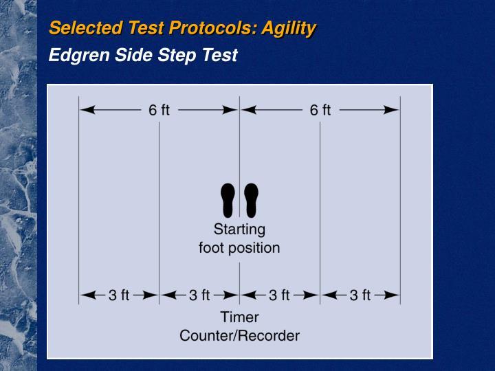 Selected Test Protocols: Agility