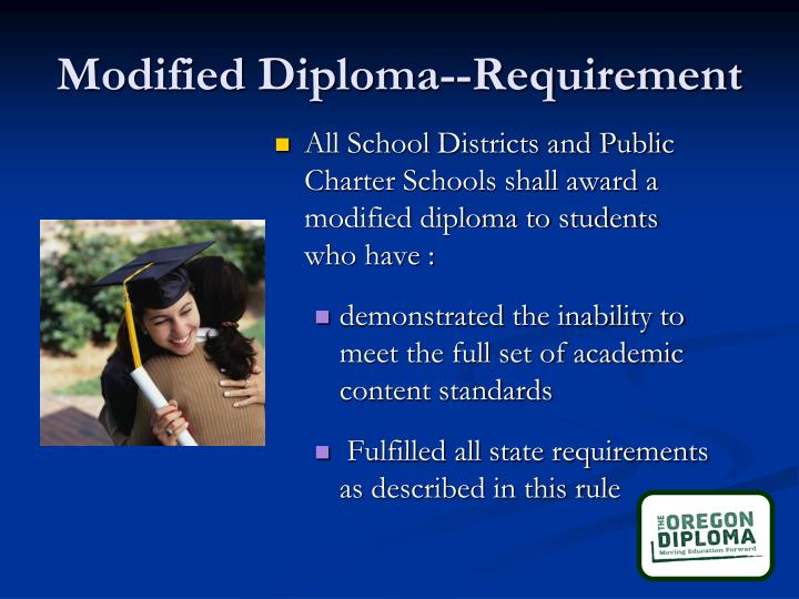 Modified Diploma--Requirement