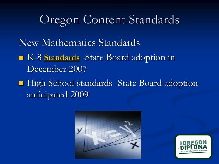 Oregon Content Standards