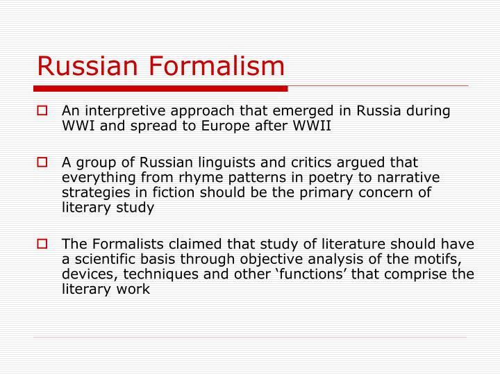 Russian Formalism